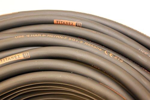 TITANEX KABEL H07RN-F 5x1,5 mm² (5G1,5) Baustellenkabel, Industriekabel geeignet für den Außenbereich 5-50m (10m)