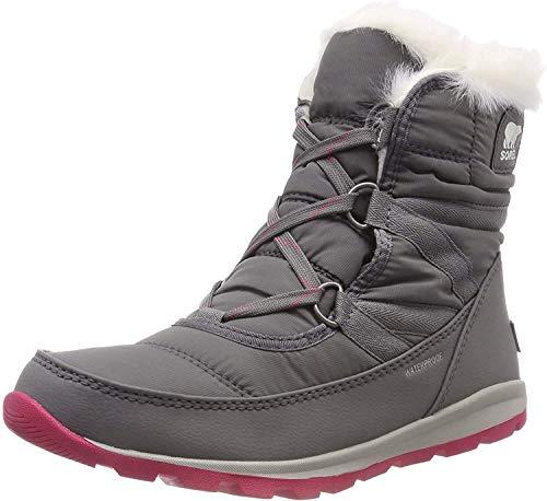 Sorel Women's Whitney Short Lace Snow Boot, quarry, bright rose, 9.5 M US