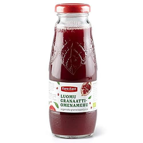 Euro-East BIO Granatapfel 100% 200ml Direktsaft 12er Packung, Pomegranate saft kein Zuckerzusatz, natürlich und vegan Hoher Vitamin (12x200ml Glasflasche)