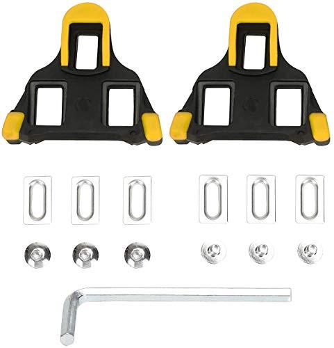 Raroauf Fahrrad Stollen Kompatibel mit Shimano Cleats, Look Pedalplatte, Fahrradpedal Stollen für SPD-SL Systemschuhe, Geeignet für Indoor Cycling & Rennrad (Gelb)