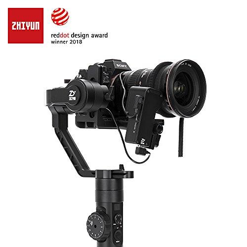 Zhiyun Crane 2 Il primo stabilizzatore di fotocamere a 3 assi del mondo con il controllo della messa a fuoco Focus Gimble a mano con display OLED intuitivo e 18 ore di runtime e 3,2KG Max. Payload per