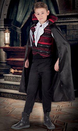 Boland- Costume Bambino Vampire Emperor, Nero/Rosso, 4-6 anni, 78057