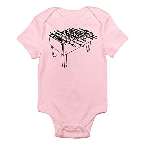 CafePress Foosball Table Soccer Infant Bodysuit Cute Infant Bodysuit Baby Romper Petal Pink