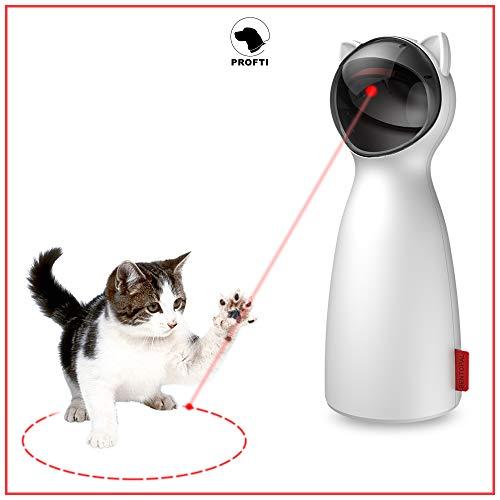 PROFTI Interaktives Katzenspielzeug - Laser Licht für aktive Katzen