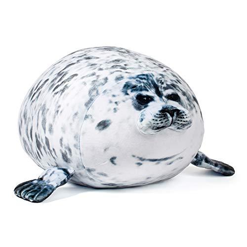 14Inch Bunbunbunny Chubby Blob Seal Plush Pillow, Stuffed Cotton Plush Animal Toy Ocean, Animal Hugging Gifts Baby Kids Birthday