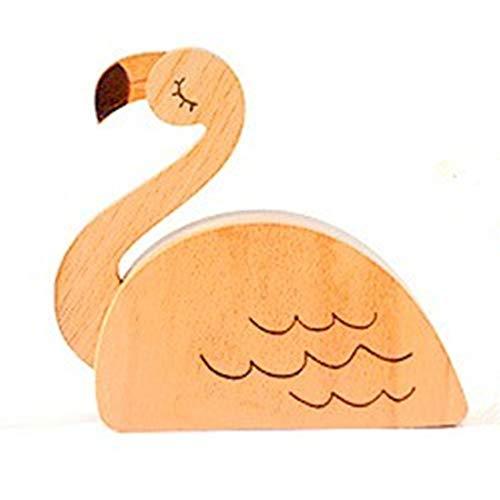 La única Chica Cool Flamingo Caja de música de Madera Regalo de cumpleaños para niña Ciudad Cielo Mecanismo de Movimiento Caja de música Hermoso