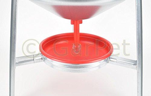 30 L Metall Automatische Geflügel Wasser Siphon Hühner Vorrats Tränke Verzinkt - 3