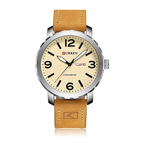DAZHE Armbanduhr Curren Quarz-Uhren, CURREN8273 Herren Sportuhr Doppel-Kalender-Quarz-wasserdichte Uhr (Color : 1)