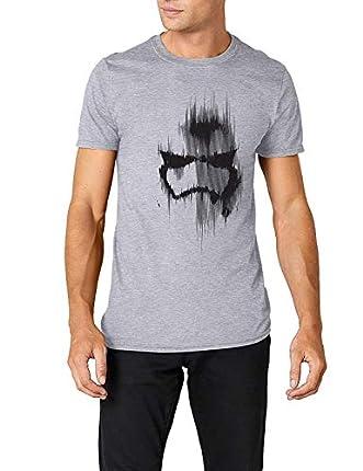 Star Wars Trooper Mask Camiseta, Gris (Grey Marl), M para Hombre