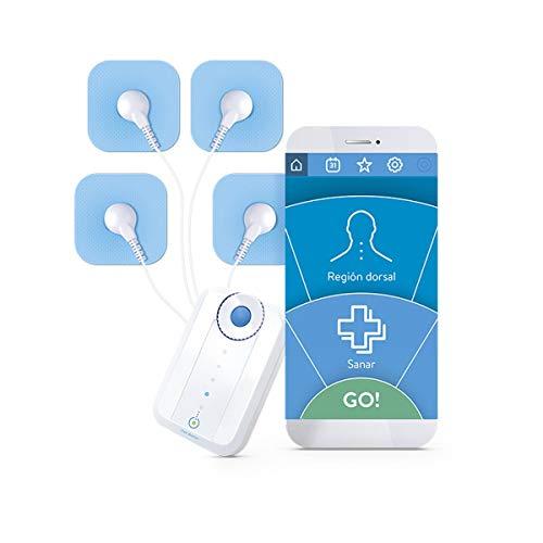 Bluetens Dispositivo de estimulador Muscular electrónico Unisex, Color Blanco, Talla única