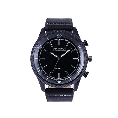 Luotuo Herren Armbanduhr,Mode Analog Quartz Uhr Simple High-End Glasspiegel und Lederarmband,Einzigartiges Zifferblattdesign Klassische Watch Die Beste Verzierung und Geschenk des Männer
