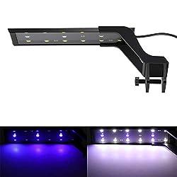 Konesky-Aquarium-Clip-On-Lichter-15-LED-Aquariumleuchte-mit-ausziehbaren-Halterungen-Blaue-und-weie-LEDs-fr-Fischwasserpflanze-25-45-cm