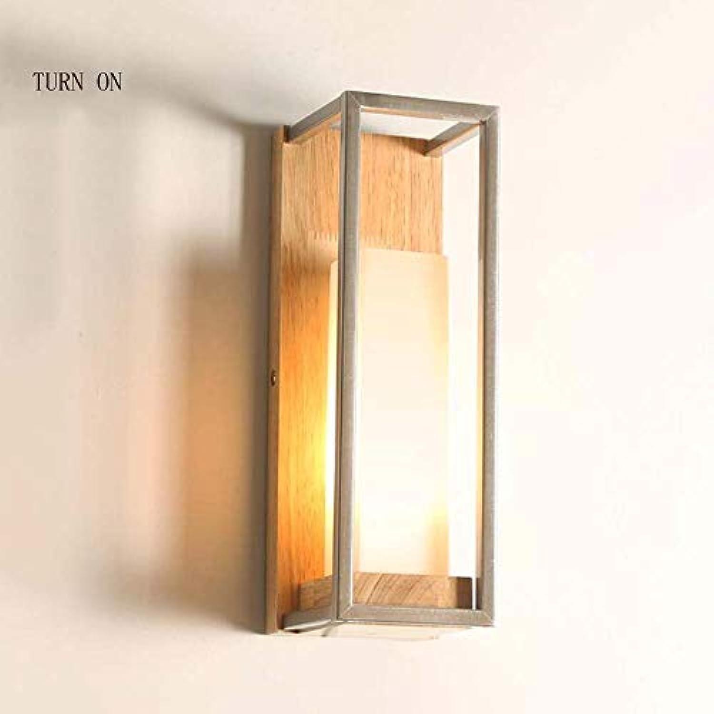 GCCI Kreativ die konomie der Energie Lampe Verstellbare Wand Modern und minimalistisch in Holz Wand der Nacht Kreative Lampe Lounge Schlafzimmer Balkon Gang Wandleuchte (Die Quelle des Lichts Nicht