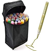 Loteaf 24 Colors Acrylic Paint Pen Set with Storage Case