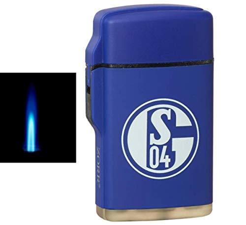 Jetflamme-Feuerzeug - Sturmfeuerzeug FC Schalke 04 inkl. Lifestyle-Ambiente Tastingbogen