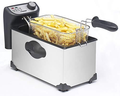Bestron Fritteuse Cool Zone, Für 1 kg Frittiergut, 3,5 Liter, 2200 W, Edelstahl