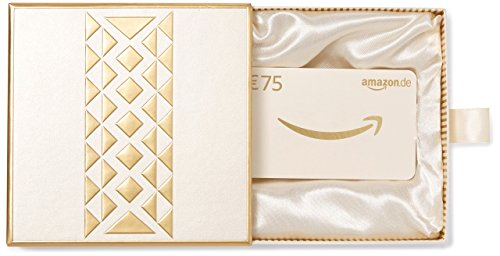 Amazon.de Geschenkkarte in Geschenkbox - 75 EUR (Gold)