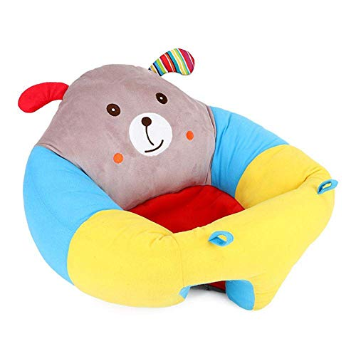 Zhenwo Bean Bag Baby Children's Bean Bag Playroom Baby Support Seat with Cartoon Animal Children's Chair Baby Chair Children's Sofa Mini Chair Baby Learning Sitting,A