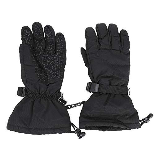 Alomejor 1 par de Guantes de Deportes de Invierno Unisex Deportes de Invierno Esquiar los Guantes de Nieve con puño Largo para Deportes al Aire Libre(M-Black)