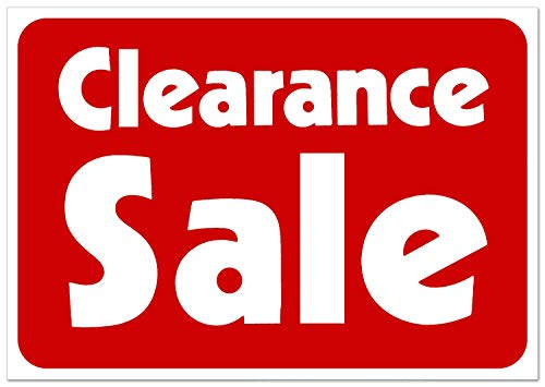 Clearance Sale Retail Business Shopping Message Sign - Durable Waterproof Plastic 7�x 11� Price Signs - Boost Sales with Bright Display Signs - Promote Business at Retail Stores