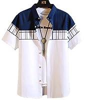 Heaven Days(ヘブンデイズ ) シャツ 半袖 春夏 カジュアル 半袖シャツ ライン メンズ 2006L0028