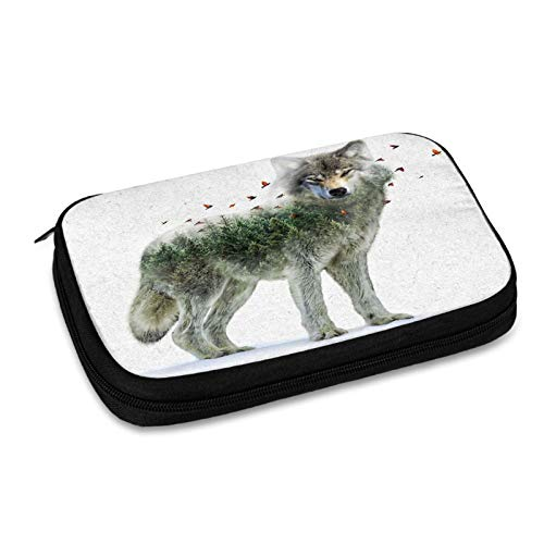 Wild I Shall Stay Wolf Electronic Organizer Travel Cable Organizer Cases Electronics Accessories Storage Bag for USB,Sd Cards,Chargers