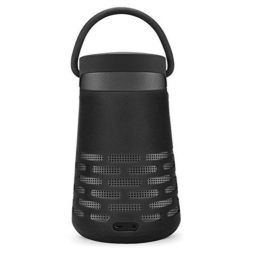 AresKo Copertura Protettiva per Bose Revolve Plus, Custodia in Silicone Soft Case Custodia Morbida Cover per Bose SoundLink Revolve+ Bluetooth Altoparlante, Nero