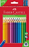 Faber-Castell - Pastelli Jumbo a forma triangolare, con temperamatite, confezione da 30 pezzi