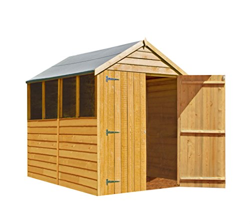 Shire Overlap Double Door Shed, Brown, 205x162x207 cm