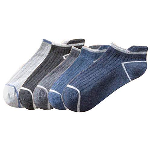 Fascigirl 5 Pairs Athletic Tab Socks Low Cut Cotton Sports Socks Running Socks Ankle Socks with Heel Tab Running