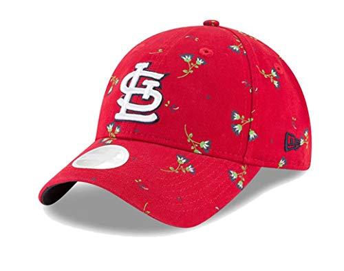 New Era Women's St. Louis Cardinals Red Blossom 9TWENTY Adjustable Hat