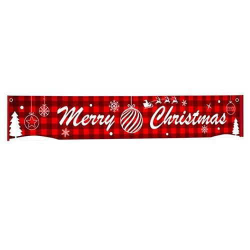 Feliz navidad banner, Letrero colgante de navidad Rojo Navidad Banner Guirnalda Grandes...