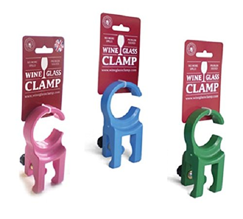 Wine Glass Holder Clamp - Outdoor Wine Glass Holder for Folding Chairs