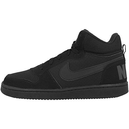 Nike Court Borough Mid (GS), Zapatillas de Baloncesto Unisex Niños, Negro (Black/Black-Black 001), 35.5 EU
