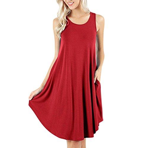 SANFASHION 2019 Damen Maxikleider ,Eine Schulter Sommerkleider Beiläufiges Kleid Langarm Strandkleider mit Taschen
