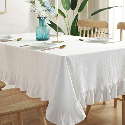 LIUJIU Wachstuch-Tischdecke Abwaschbar Garten-Tischdecke Wachstischdecke Plastik-Tischdecken Eckig, 150CM