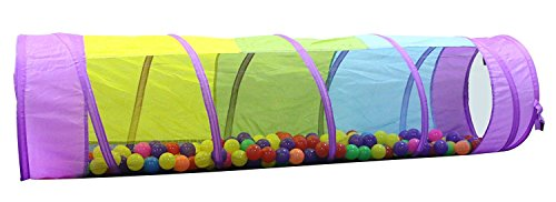 Product Image of the Kiddey Multicolored Play Tunnel for Kids (6') – Crawl and Explore Tent, with...