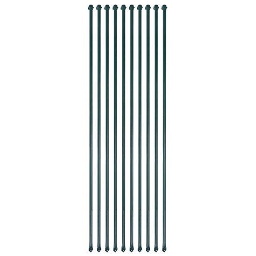 XINGLIEU Gartengeräte Gartenpfosten 10 Stück 1,5m Metall grün Gartenzaun Pfosten Material: Metall