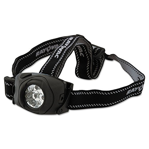 Rayovac DIYHL3AAAB Virtually Indestructible LED Headlight 3 AAA Black