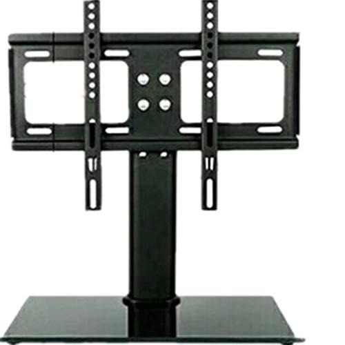 HehiFRlark - Soporte de base para televisor (LCD, pantalla plana), color negro