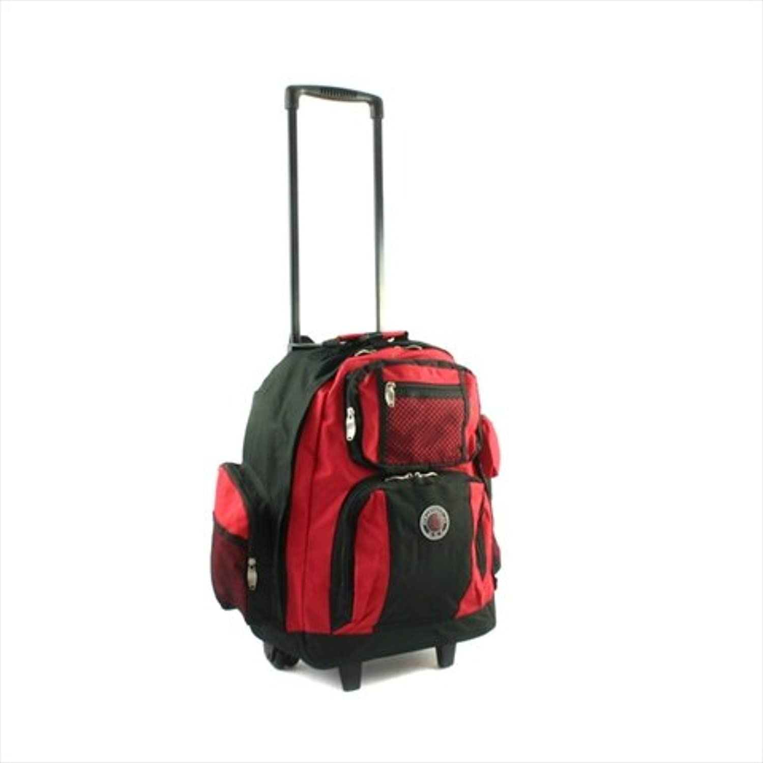 Transworld RollAway Deluxe Rolling Backpack  Red