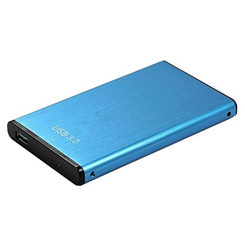 Dispositivo Di Archiviazione Di Memoria Esterno Portatile Da 2,5 Pollici 2 TB / 1 TB / 500 GB USB 3.0 Disco Rigido HDD For Computer Desktop (Color : Blue 500GB)
