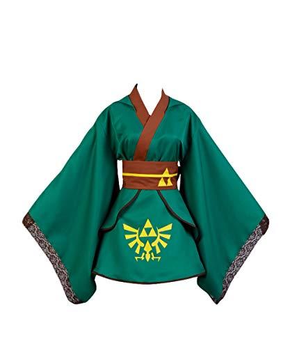 Mujer Juego Cosplay Disfraz de Kimono con Capucha de Link Carnaval Halloween Vestido...