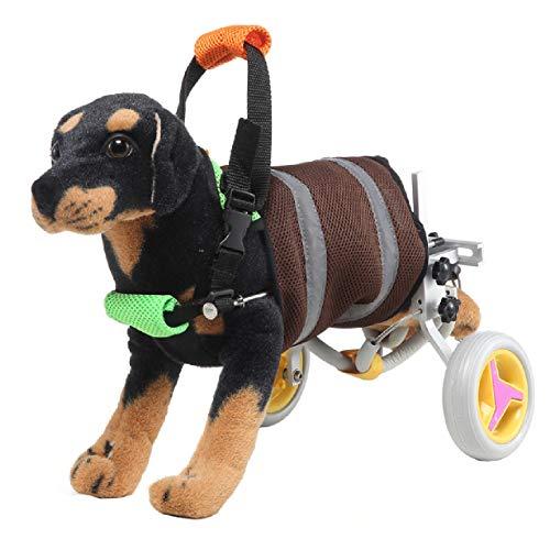 sac taske 犬用 車いす ペット 歩行器 小型犬用 車椅子 ドックウォーカー 補助輪 (グレー)