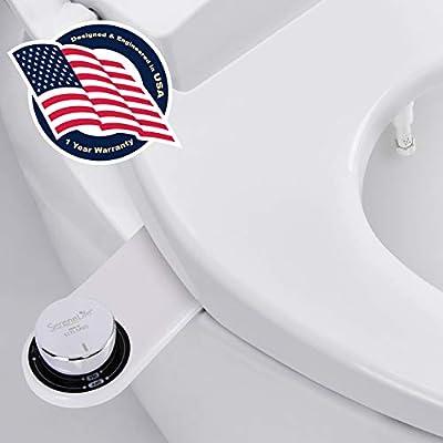 LUXE Bidet Bidet Sprayer Seat | Toilet Alternative Paper - Tushy Cleaner | Feminine Wash for Women, White