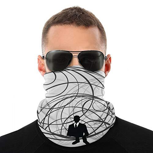 Hangdachang Global Man - Pañuelo unisex para el cuello, bufanda multifunción, para deportes al aire libre, polvo, sol, viento
