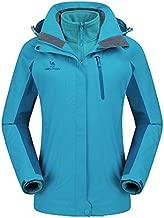 CAMEL CROWN Womens Winter Jacket 3-in-1 Winter Coats Ski Jacket Waterproof with Warm Fleece Inner and Windproof Hooded