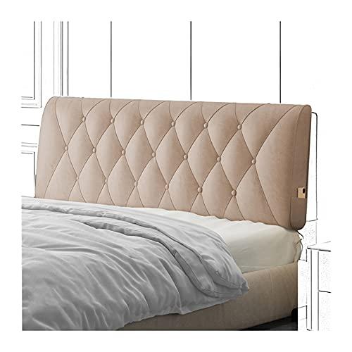 Cama Cojín Lectura Almohada Respaldo, Cuña Almohadillas Lumbares Tapizadas Impermeables para Hotel Habitación, Almohada Autoadhesiva Anticolisión PENGFEI (Color : Pink, Size : 180x60x10cm)