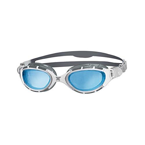 Zoggs Predator Flex Occhialini da nuoto, Argento/Bianco/Blu, taglia unica