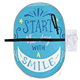 Waterproof Washable Baby Diaper Changing Pad Mat Start The Day with Smile Portable and Foldable Infant Large Nappy Mat 27x20 inch